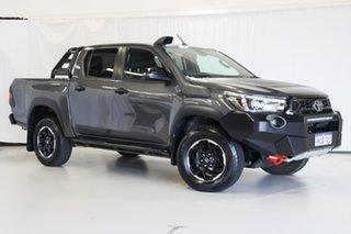 2019 Toyota Hilux GUN126R Rugged X Double Cab Grey 6 Speed Sports Automatic Utility.
