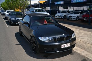 2008 BMW 120i E88 Black 6 Speed Automatic Convertible.