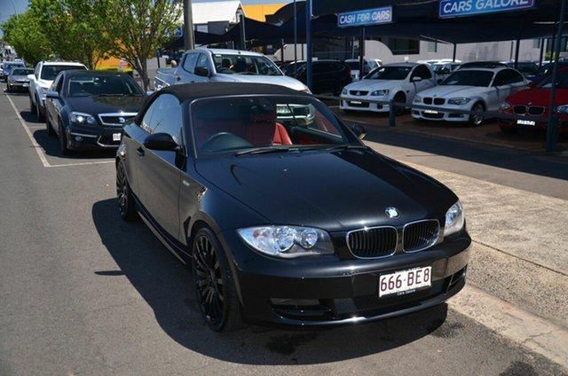 Used BMW 120i E88 Toowoomba, 2008 BMW 120i E88 Black 6 Speed Automatic Convertible