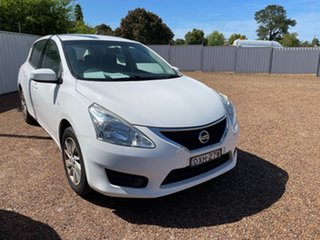 2015 Nissan Pulsar C12 Series 2 ST White 1 Speed Constant Variable Hatchback.
