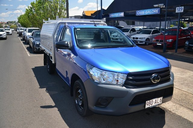 Used Toyota Hilux TGN121R Facelift Workmate Toowoomba, 2020 Toyota Hilux TGN121R Facelift Workmate Blue 6 Speed Automatic Cab Chassis