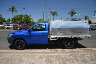 2020 Toyota Hilux TGN121R Facelift Workmate Blue 6 Speed Automatic Cab Chassis