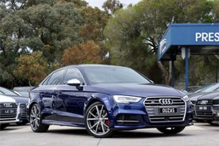 2018 Audi S3 8V MY18 S Tronic Quattro Navarra Blue 7 Speed Sports Automatic Dual Clutch Sedan.