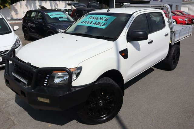 Used Ford Ranger PX XL Moorooka, 2012 Ford Ranger PX XL White 6 Speed Manual Cab Chassis