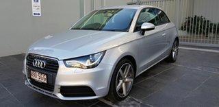 2012 Audi A1 8X MY12 1.4 TFSI Sport Silver 7 Speed Auto Direct Shift Hatchback.