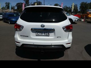 2014 Nissan Pathfinder R52 ST-L (4x2) White Continuous Variable Wagon.