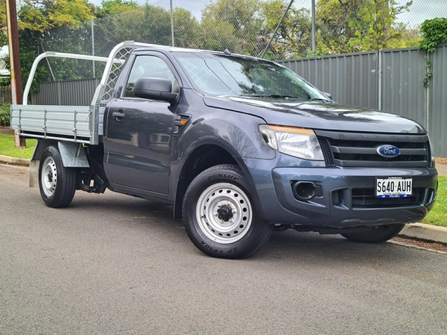 Used Ford Ranger PX XL Hyde Park, 2012 Ford Ranger PX XL Grey 5 Speed Manual Cab Chassis