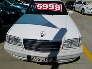 1998 Mercedes-Benz C-Class W202 C200 Classic White 5 Speed Automatic Sedan.