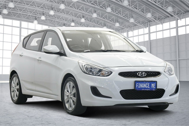 Used Hyundai Accent RB6 MY19 Sport Victoria Park, 2018 Hyundai Accent RB6 MY19 Sport White 6 Speed Sports Automatic Hatchback