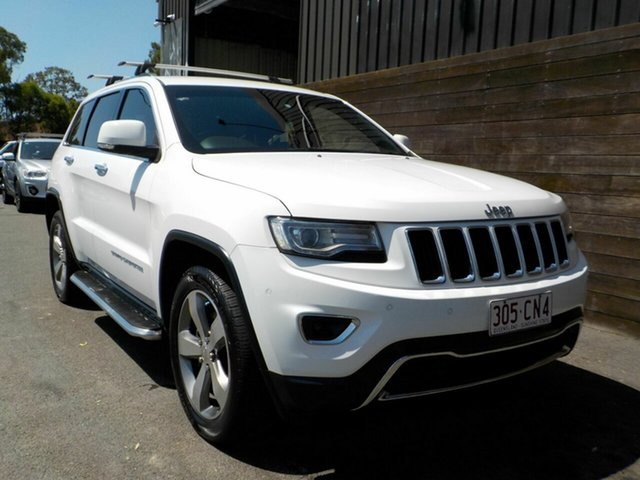 Used Jeep Grand Cherokee WK MY2014 Limited Labrador, 2013 Jeep Grand Cherokee WK MY2014 Limited White 8 Speed Sports Automatic Wagon