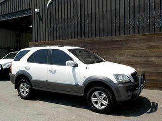 2004 Kia Sorento BL EX White 4 Speed Automatic Wagon.