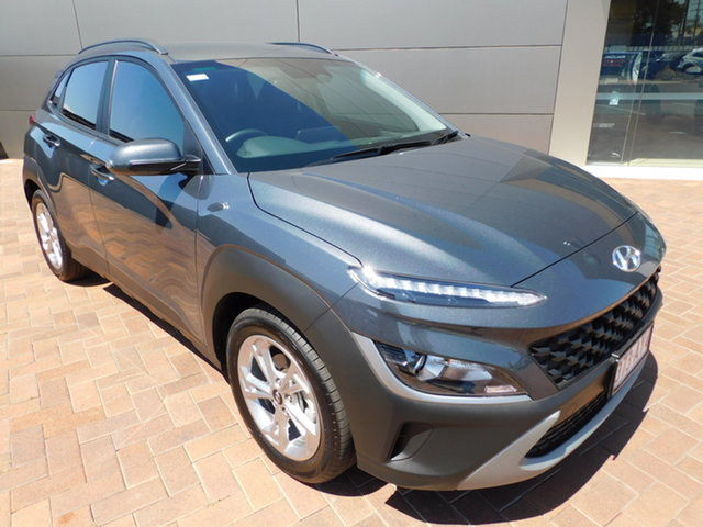 Used Hyundai Kona Os.v4 MY21 Active 2WD Toowoomba, 2020 Hyundai Kona Os.v4 MY21 Active 2WD Grey 8 Speed Constant Variable Wagon