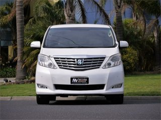 2008 Toyota Alphard ANH20W 240X White Constant Variable Van Wagon.