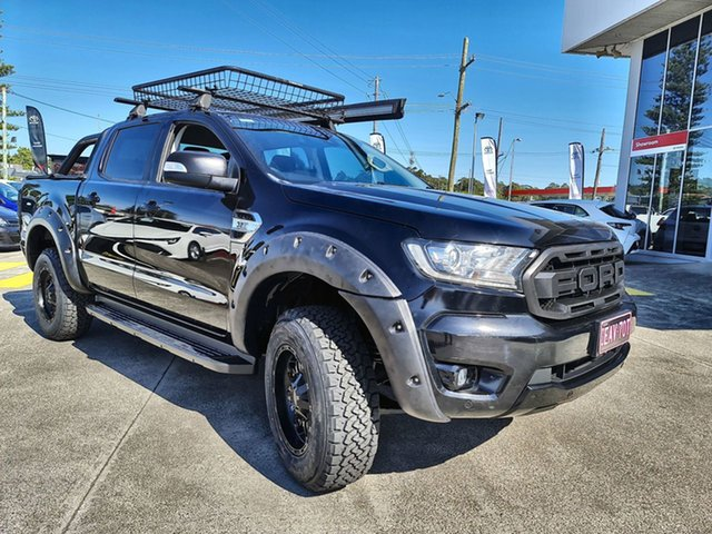 Pre-Owned Ford Ranger PX MkII 2018.00MY XLT Double Cab Cardiff, 2018 Ford Ranger PX MkII 2018.00MY XLT Double Cab Black 6 Speed Sports Automatic Utility