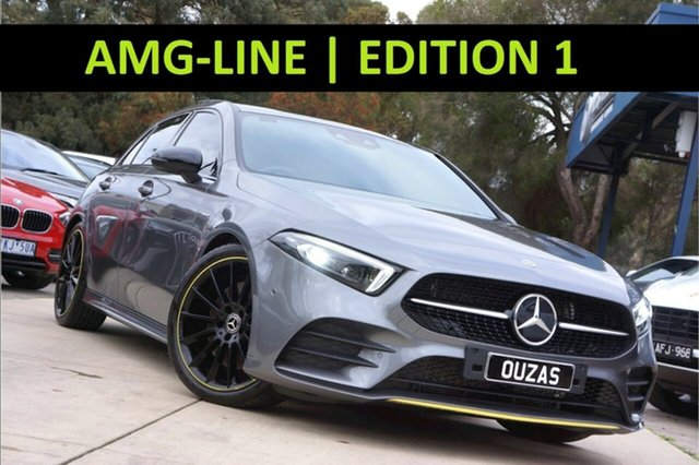 Used Mercedes-Benz A-Class W177 A250 DCT 4MATIC AMG Line Balwyn, 2019 Mercedes-Benz A-Class W177 A250 DCT 4MATIC AMG Line Grey 7 Speed Sports Automatic Dual Clutch