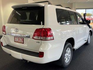 2010 Toyota Landcruiser VDJ200R MY10 GXL White 6 Speed Sports Automatic Wagon.