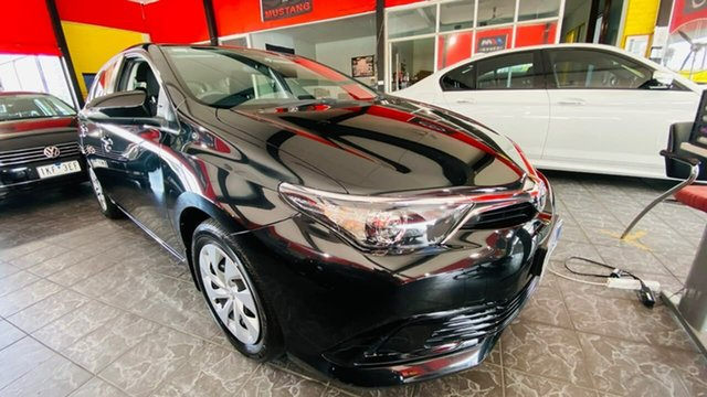 Used Toyota Corolla ZRE182R Ascent S-CVT Maidstone, 2017 Toyota Corolla ZRE182R Ascent S-CVT Black 7 Speed Constant Variable Hatchback