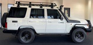 2021 Toyota Landcruiser VDJ76R Workmate White 5 Speed Manual Wagon.
