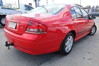 2003 Ford Falcon BA XT Red 4 Speed Sports Automatic Sedan.