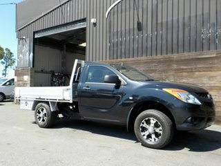 2012 Mazda BT-50 UP0YD1 XT 4x2 Black 6 Speed Manual Cab Chassis.