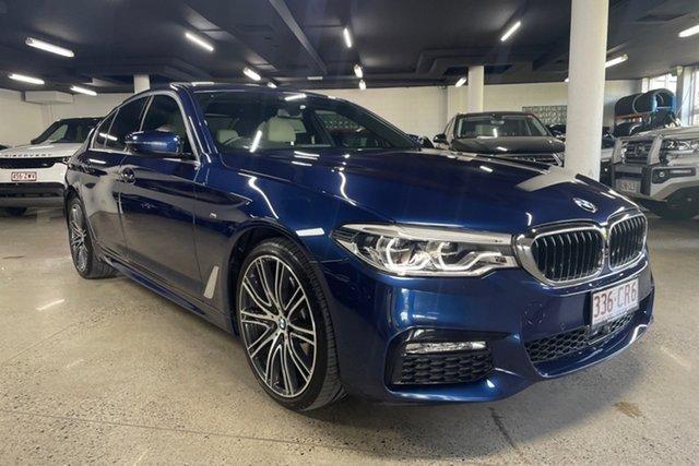 Used BMW 5 Series G30 540i Steptronic M Sport Albion, 2018 BMW 5 Series G30 540i Steptronic M Sport Blue 8 Speed Sports Automatic Sedan