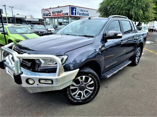 2016 Ford Ranger PX MkII Wildtrak Double Cab Grey 6 Speed Manual Utility.