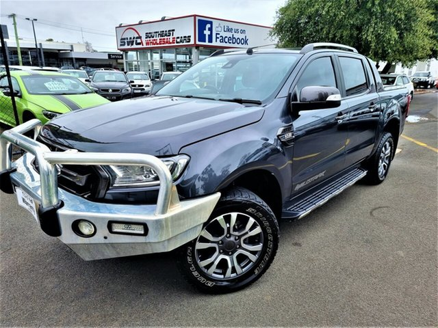 Used Ford Ranger PX MkII Wildtrak Double Cab Seaford, 2016 Ford Ranger PX MkII Wildtrak Double Cab Grey 6 Speed Manual Utility