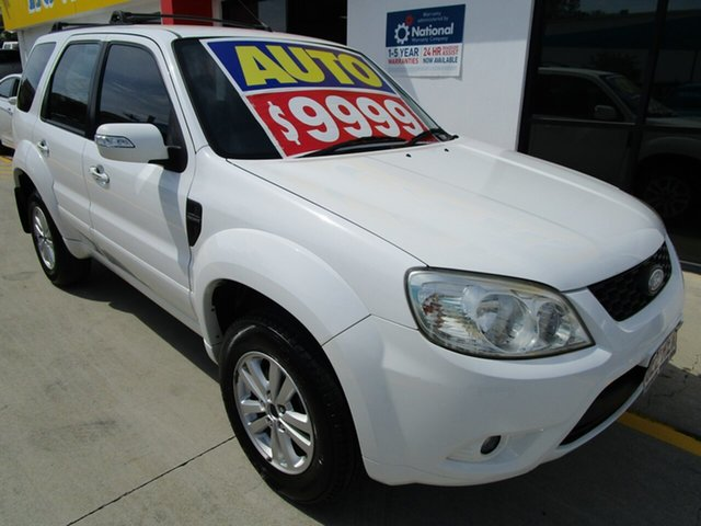 Used Ford Escape ZD MY10 Springwood, 2010 Ford Escape ZD MY10 White 4 Speed Automatic SUV