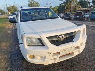 2007 Toyota Hilux TGN16R MY07 Workmate 4x2 White 5 Speed Manual Utility.