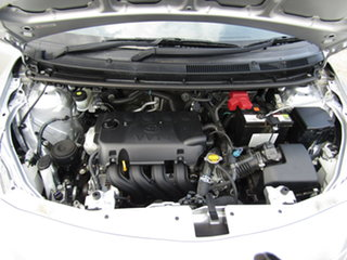 2013 Toyota Yaris NCP93R YRS Adventurine Silver 4 Speed Automatic Sedan
