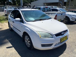 2006 Ford Focus LS CL Satin White 4 Speed Sports Automatic Hatchback.