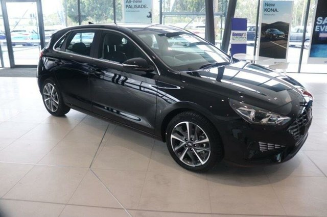 New Hyundai i30 PD.V4 MY21 Elite Springwood, 2021 Hyundai i30 PD.V4 MY21 Elite Phantom Black 6 Speed Sports Automatic Hatchback
