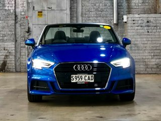 2019 Audi A3 8V MY19 35 TFSI S Tronic Blue 7 Speed Sports Automatic Dual Clutch Cabriolet.