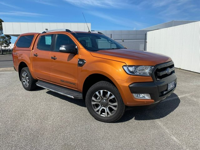 Used Ford Ranger PX MkII 2018.00MY Wildtrak Double Cab Pakenham, 2018 Ford Ranger PX MkII 2018.00MY Wildtrak Double Cab Orange 6 Speed Sports Automatic Utility