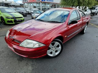 2001 Ford Falcon AU II XL Super Cab Red 4 Speed Automatic Cab Chassis.
