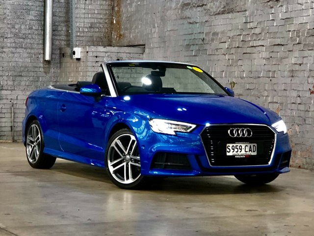 Used Audi A3 8V MY19 35 TFSI S Tronic Mile End South, 2019 Audi A3 8V MY19 35 TFSI S Tronic Blue 7 Speed Sports Automatic Dual Clutch Cabriolet