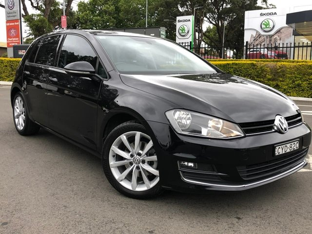 Used Volkswagen Golf VII MY15 103TSI DSG Highline Botany, 2014 Volkswagen Golf VII MY15 103TSI DSG Highline Black 7 Speed Sports Automatic Dual Clutch