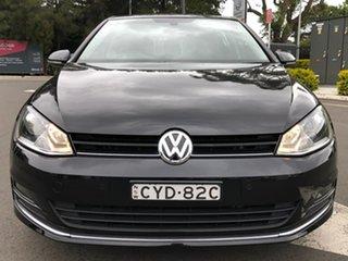 2014 Volkswagen Golf VII MY15 103TSI DSG Highline Black 7 Speed Sports Automatic Dual Clutch.