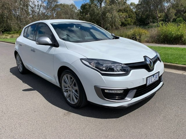 Used Renault Megane III B95 Phase 2 GT-Line Geelong, 2016 Renault Megane III B95 Phase 2 GT-Line White Sports Automatic Dual Clutch Hatchback