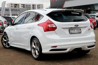 2013 Ford Focus LW MK2 ST White 6 Speed Manual Hatchback.