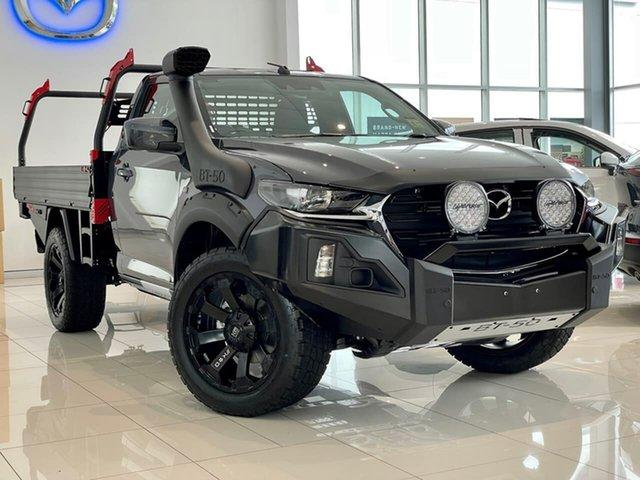 New Mazda BT-50 TFS40J XT Waitara, 2021 Mazda BT-50 TFS40J XT Grey 6 Speed Sports Automatic Cab Chassis