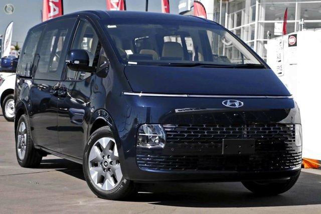 New Hyundai Staria US4.V1 MY22 Highlander AWD Nailsworth, 2021 Hyundai Staria US4.V1 MY22 Highlander AWD Moonlight Blue 8 Speed Sports Automatic Wagon