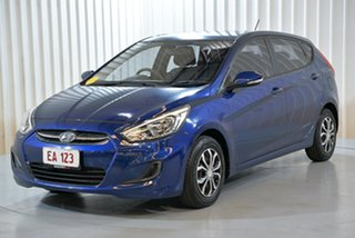 2016 Hyundai Accent RB4 MY16 Active Blue 6 Speed Constant Variable Hatchback.