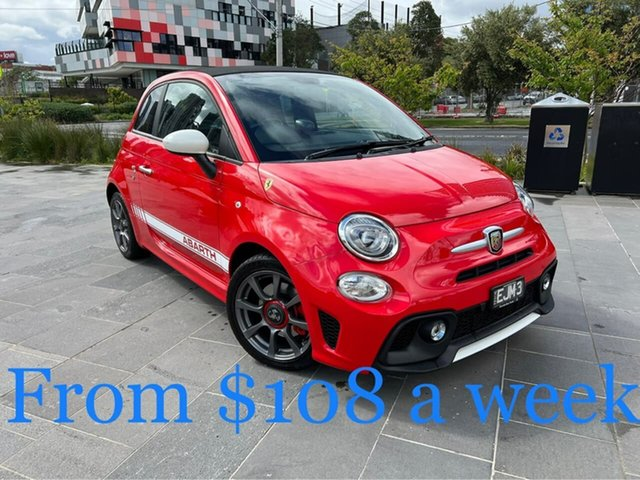 Used Abarth 595 Series 4 South Melbourne, 2017 Abarth 595 Series 4 Red 5 Speed Manual Convertible
