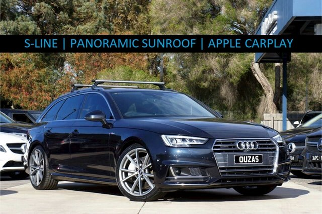 Used Audi A4 B9 8W MY17 sport Avant S Tronic Quattro Balwyn, 2016 Audi A4 B9 8W MY17 sport Avant S Tronic Quattro Moonlight Blue 7 Speed