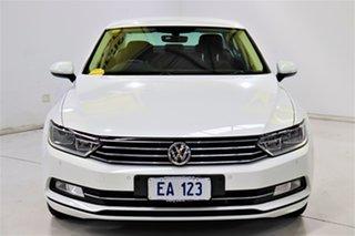 2017 Volkswagen Passat 3C (B8) MY18 132TSI DSG Comfortline White 7 Speed.