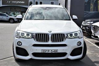 2016 BMW X3 F25 LCI xDrive28i Steptronic White 8 Speed Sports Automatic Wagon.