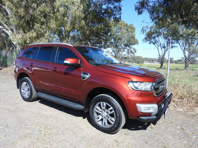Used Ford Everest UA Trend Epsom, 2016 Ford Everest UA Trend Red 6 Speed Sports Automatic SUV