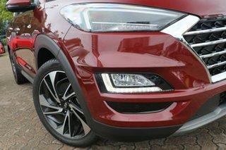2018 Hyundai Tucson TL3 MY19 Highlander D-CT AWD Burgundy 7 Speed Sports Automatic Dual Clutch Wagon.