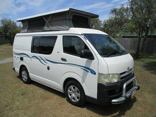 2006 Toyota HiAce KDH221R Super LWB White 4 Speed Automatic Van.